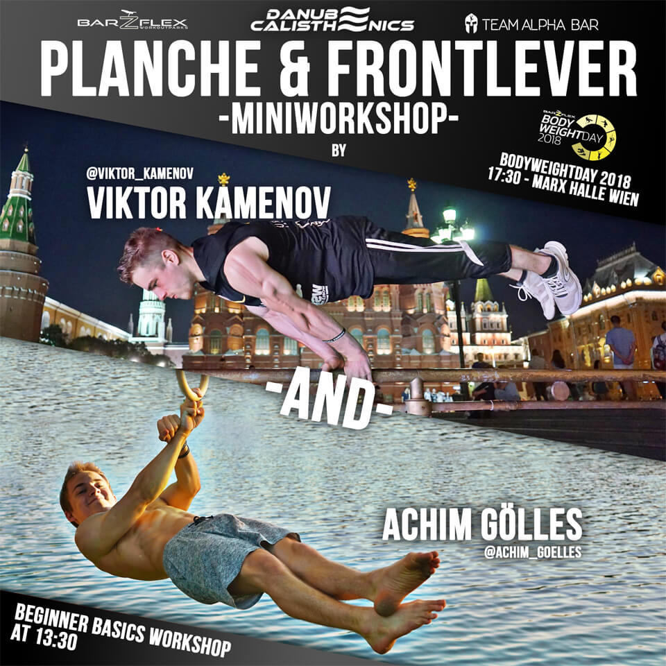 Workshop Bodyweightday Achim Gölles und Viktor Kamenov
